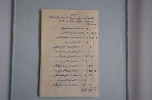 Liste (datée 1909) des 173 propriétaires d'un puits de 27 jours, soit 648 heures d'eau