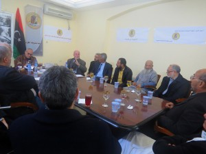Au siège de l'association libyenne des prisonniers d'opinion, sous la présidence d'Ali Elakermi
