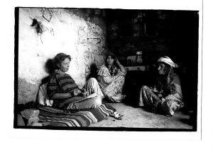 Fanny Colonna sur le terrain dans l'Aurès, 1989 (K.Chachoua)